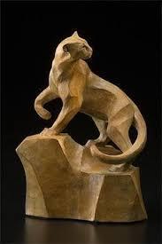 mountain lion statue on the alert mini mountain lion sculpture by rosetta wood