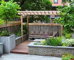 rectangular wall planters deck traditional with garden design