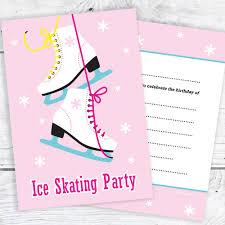 ice skating party invitations kids birthday invites a6