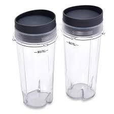 Clear Glass Kitchen Canister Sets Ninja Xwp002cs 16 Ounce Single Serve Cups With Lids For Bl660 Set