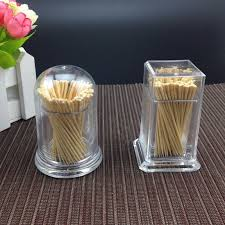 Tooth Pick Holders | transparent box round square plastic toothpicks dispenser high