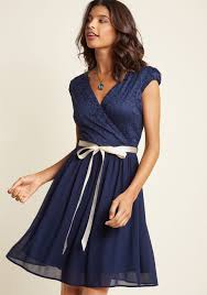 beautifully bubbly a line dress in navy modcloth