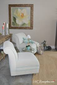 White Upholstered Chair by Painted Upholstered Chair Makeover Tutorial H20bungalow
