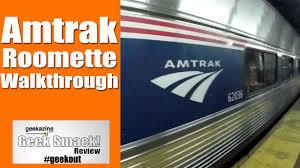 walkthrough amtrak train roomette viewliner sleeping cars youtube