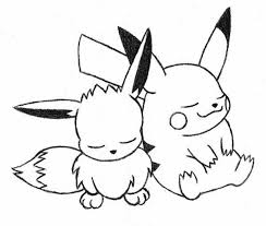 pokemon color pages pikachu eevee and pikachu coloring pages murderthestout