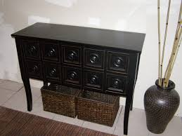 Black Console Table Console Tables Glamorous Black Console Table With Drawers On