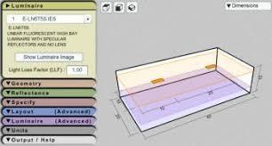 Lighting Layout Calculator Indoor Outdoor Lighting Layout E