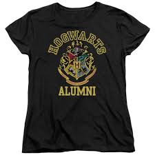 harry potter alumni shirt hogwarts alumni women s relaxed fit black t shirt harry potter shop