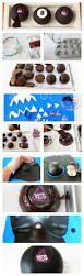 Halloween Cake Pops Pinterest by Chocolate Cakes Decorated To Look Like Magic 8 Balls The Perfect
