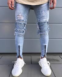 Mens Destroyed Skinny Jeans Online Get Cheap Destroyed Denim Men Jeans Aliexpress Com
