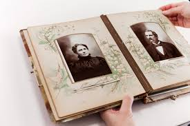 vintage photo album the history of scrapbooking