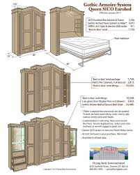 Murphy Bed With Armoire Gothic Armoire Murphy Beds Gothic Armoire By Flyingbeds Flyingbeds
