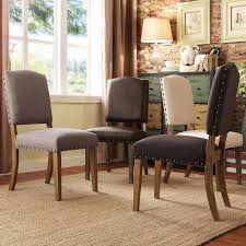 Brown Leather Dining Chairs With Nailheads Chair Nailhead Dining Chairs Benches Kitchen Room Furniture