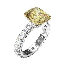 fancy yellow diamond engagement rings yellow diamond engagement ring with blaze