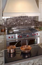 Copper Backsplash Kitchen Boston Copper Backsplash Kitchen Traditional With Grey Tile