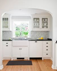 inexpensive backsplash for kitchen decoration beautiful small modern stylish white kitchen with gret