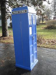 Dr Who Tardis Bookshelf Blue English Police Call Box Doctor Dr Who Tardis Phone Booth