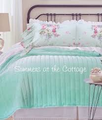 aqua ruffle comforter shabby cottage chic bedding twin quilts comforter rag quilt