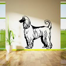 popular animal wall decals buy cheap lots from afghan hound dog series free shipping vinyl wall stickers mural art home decor living room