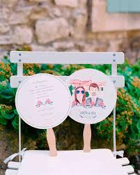 How To Make Wedding Fan Programs 11 Wedding Program Fans To Keep Guests Cool Martha Stewart Weddings
