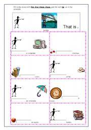 demonstratives worksheet by bernardina