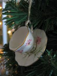belleek cup saucer hanging ornament teapot teacup
