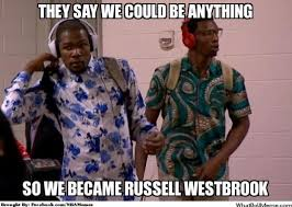 Westbrook Meme - russell westbrook teased for not knowing what memes are