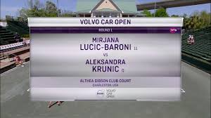 tennis channel everywhere u002717 wta volvo car open lucic baroni v