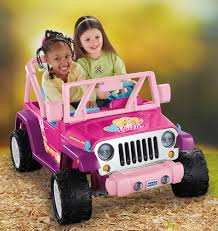 purple barbie jeep power wheels barbie jammin u0027 jeep wrangler 12 volt battery powered