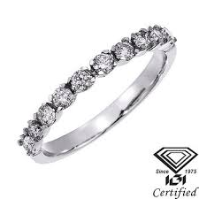 bjs wedding rings 50 ct t w certified diamond wedding and anniversary band in 14k
