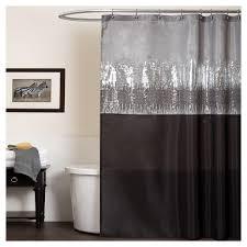 Lush Shower Curtains Sky Shower Curtain Black Gray Lush Decor Target