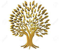 gold tree prosperity symbol 3d image stock photo picture and