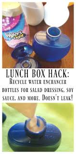 recycle water enhancer bottles for bento lunch mini sauce