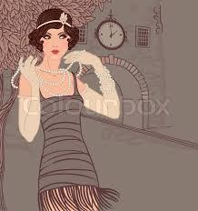 roaring 20 s fashion hair https www colourbox com preview 5025015 flapper girls set