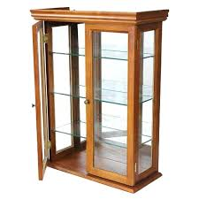 wall mounted curio cabinet wall mounted curio cabinet country style hardwood 3 tempered glass