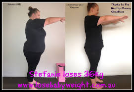 lose baby weight stefanie loses 36kg