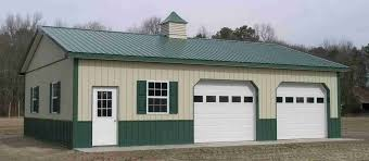 pole barn garage amish shed house plan iron the better garages