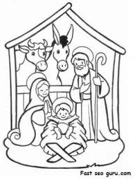 printable christmas jesus manger coloring pages printable
