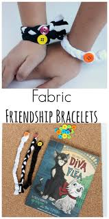 braided fabric friendship bracelets make and takes