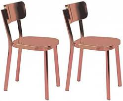 Uk Dining Chairs Buy Carisma Copper Plated Dining Chair Pair Furntastic