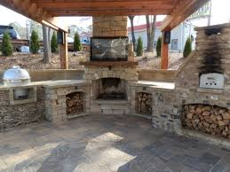 unique outdoor kitchen and fireplace designs h86 for inspirational