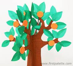 3d paper tree craft crafts firstpalette com