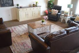 Living Room Coffee Table Sets How To Build A Farmhouse Coffee Table With Storage Free