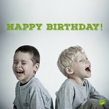 two cheerful clowns birthday children bright stock photo happy children on their special day kids birthday wishes