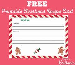 free printable christmas recipe card pertaining to free christmas