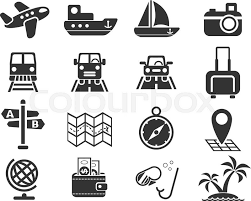 travel icons images Travel web icons for user interface design stock vector colourbox jpg