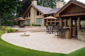 Backyard Stone Patio Ideas by Landscaping Design Of Patios Walkways And Paths In Appleton Wi