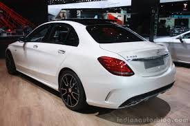 cars mercedes 2015 mercedes benz c 450 amg rear three quarter at the 2015 detroit