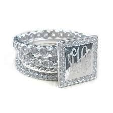 monogramed rings monogram sterling silver rings monogram jewelry be monogrammed
