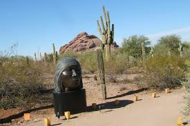 native sonoran desert plants apache master sculptor u0027s works displayed at garden arizona